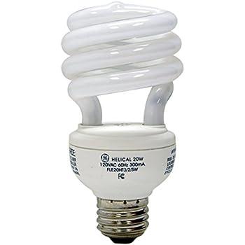 GE Lighting 15517 Energy Smart Spiral CFL 23-Watt (100-watt replacement) 1650-Lumen T3 Spiral Light Bulb with Medium Base, 1-Pack
