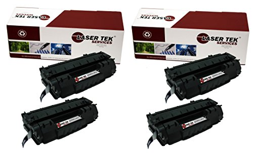 Price comparison product image Laser Tek Services ® HP Q5949A (49A) 4 Pack Black Replacement Toner Cartridges for the HP LaserJet 1160, 1160Le, 1320, 1320n, 1320nw, 1320t, 1320tn, 3390, 3392