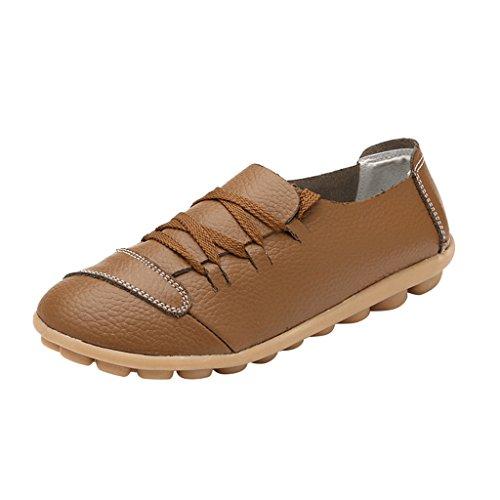 Optimale Dames Rijschoenen Lace-up Loafers Boot Kaki