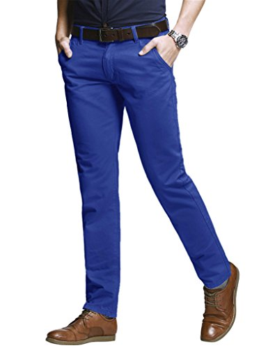 Match Men's Slim Tapered Stretchy Casual Pant (40W x 31L, 8060 Washed Blue)