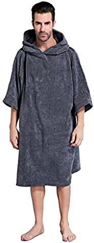 Changing Towel Poncho Robe with Hood | One Size Fits All by Winthome