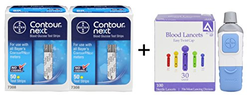 Bayer Contour NEXT Test Strips 100 + Bayer Microlet Lancing