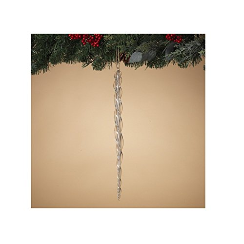 Gerson Hand Blown 16 inches High Glass Icicle Christmas -