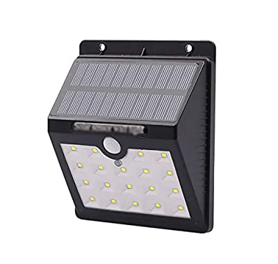 Carl Artbay Solar Outdoor Safety Lights with Motion Sensors Waterproof Garden Lights 19 LED Super Bright Security Lights Large Outer Lights for Driveway Garage Yard Swimming Pool Lighting Time Long