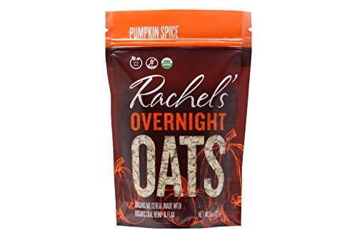 Rachel's Overnight Oats, Organic Oat Cereal Made with Hemp, Chia and Flax (Pumpkin - Pumpkin Oatmeal