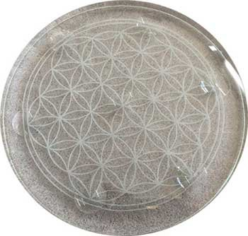 Party Games Accessories Halloween Séance Crystal Balls Divination Tool See The Future Flower of Life Charge Crystals 10''