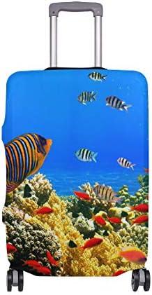FANTAZIO Koffer Schutzhülle Kofferhülle Kofferhülle Koralle Colony Reef
