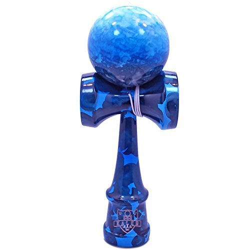 Full Blue Ocean Marble Kendama And Extra String, Model: