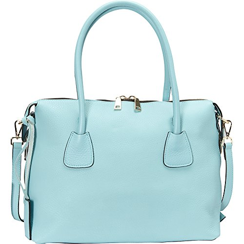 Donna Bella Designs Colette Leather Shoulder Bag, Light Blue by Donna Bella Designs
