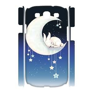 Custom New Case for Samsung Galaxy S3 I9300 3D, Moon Bunny Phone Case - HL-R688134