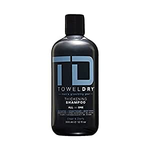 Towel Dry Thickening Shampoo All in One for Men, 12 Ounce