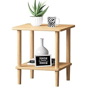 Amazon.com: Mesa de café, mesa auxiliar de madera maciza ...
