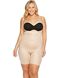 Womens Plus Size Power Conceal-Her¿ Open-Bust Mid-Thigh Bodysuit