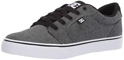 DC Men's Anvil TX SE Skate Shoe, Black Resin, 11.5 M US