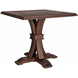 Darby Rustic Java Square Counter-height Dining Table Counter Height Table Dining Set Pub Bar Kitchen Stools Chair Stool