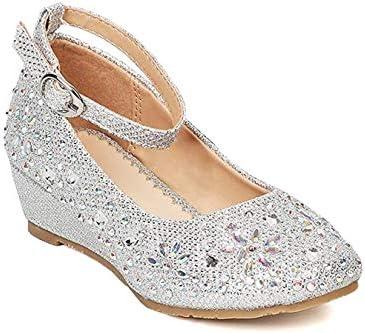 Furdeour Glitter Girls Dress Shoes