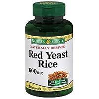 Nature's Bounty Red Yeast Rice, 600 mg, Capsules, 60 ct (Pack of 3)