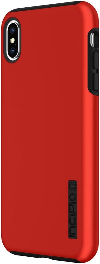 """Incipio DualPro Dual Layer Case for iPhone Xs Max (6.5"""") with Hybrid Shock-Absorbing Drop Protection - Iridescent Red/Black"""