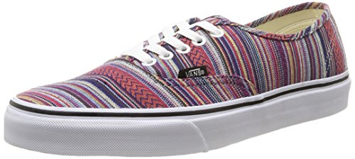 Vans Authentic Mens Skateboarding Shoes (Guate Weave) Black/Multi