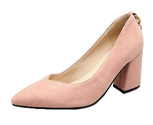Tsfdh004515 Talon Chaussures Femme Haut Rose Légeres Couleur Unie Aalardom À p16qwAx8
