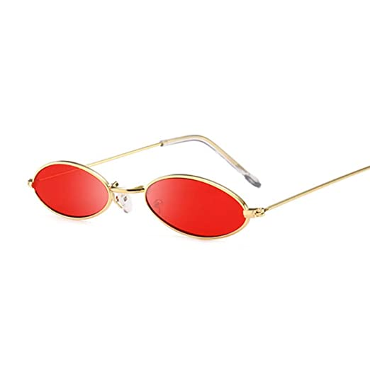 Yangjing-hl Gafas de Sol ovales pequeñas Retro Gafas de ...