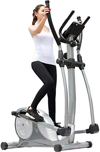 Elliptical Trainer Exercise Bike with Seat Easy Computer Office Fitness Workout Machine for Home Use