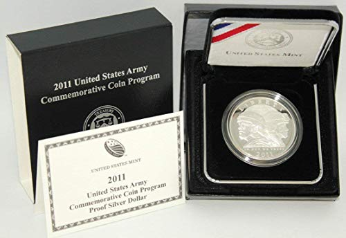 (2011 P United States Army Commemorative Silver Dollar Proof US Mint)