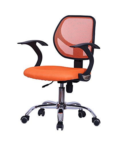 Vieworld Mesh Office Chair, Chrome Finished Base (ORANGE)