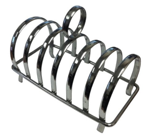 Grunwerg Stainless Steel Chrome Toast Rack (Holds 6 Slices (TR-6))