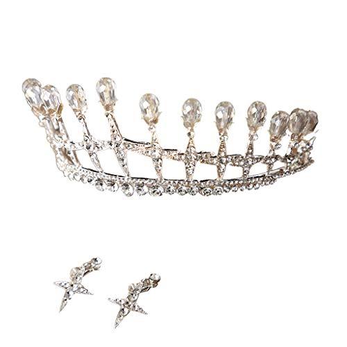 Bridal Accessories for the Bride DEATU Bride Crown Zircon Rhinestone Luminous Luxury Wedding Bridal Jewelry Tiara Gifts ()