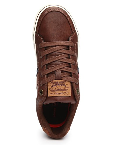 Levis Turner Nappa Sneakers Donkerbruin 518518-06b 8.5