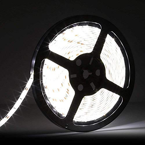 - LEDMO 5630 LED Strip, Daylight 300pcs SMD 5630LEDs 16.4Ft DC12V Waterproof IP65, 25Lm/LED, 2 Times Brightness Than SMD5050 LED Ribbon, LED Light Strip