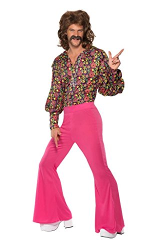 Smiffy's Men's 1960's CND Slack Suit Costume, Top and pants, 60's Groovy Baby, Serious Fun, Size L, 39441 - Mens 60's Halloween Costumes