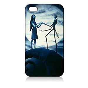 Jack Sally Nightmare Before Christmas Hard Case Cover Skin for Iphone 4 4s Iphone4 At&t Sprint Verizon Retail Packing