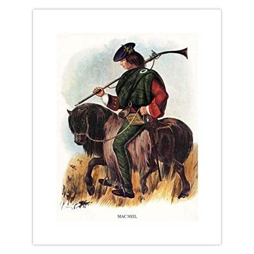 Colquhoun Clan Last Name Wall Art Print Scottish Decor Family Surname Artwork Highland Dress