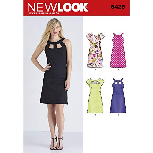 New Look Patterns Misses' Dresses Size A (10-12-14-16-18-20-22) 6429