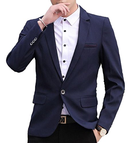 Autumn New Men's Business Casual Slim Trousers(Navy Blue) - 4