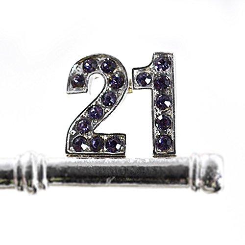 1 X BUTTERFLY GIFT BOXED 21ST BIRTHDAY KEY KEEPSAKE
