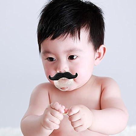 Jzhen Chupete con Bigote para Bebé Recien Nacido