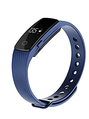 VERTTEE Wireless Bluetooth Smart Bracelet with Heart Rate Monitor Step Pedometer Fitness Tracker