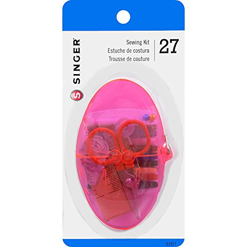 - Singer Sewing Kit in Egg Shaped Storage Case, Assorted Colors, 3-Pack