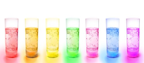 Ivation Glow Glass Waterproof Multi Color LED Light-Up Wine Cup
