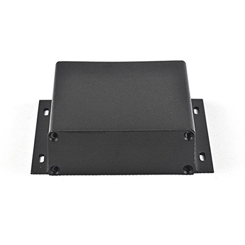 wlaniot Electronic Project box aluminum Project enclosure Case Extrusion Flange for PCB board DIY - 3.74''4.09''1.10''(LWH) Black