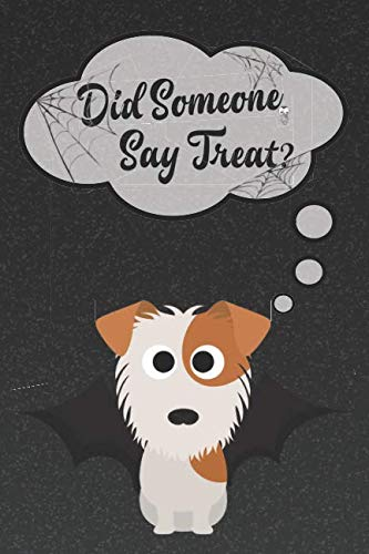 Jack Russell Terrier Lined Notebook: A Halloween Themed Notebook For JRT Lovers (Dog Halloween Notebooks and -