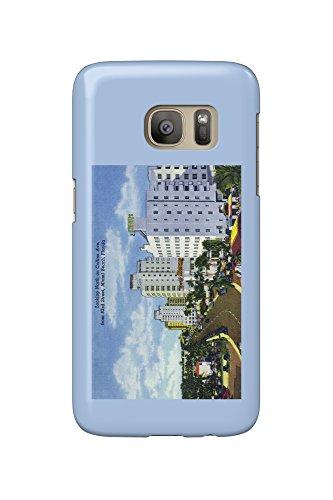 Miami Beach, Florida - North View up Collins Avenue (Galaxy S7 Cell Phone Case, Slim Barely - Collins Beach Miami