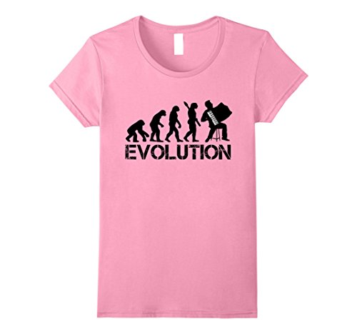 Womens Accordion Shirt - Accordionist Evolution T Shirt XL (Evolution Womens Pink T-shirt)