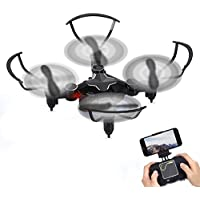 GBlife 2.4GHz 6-Axis Gyro 4CH Mini RC Quadcopter Wifi Mobile RC Helicopter Headless Mode One Key Return RC Drone With HD 720P Camera(Black)
