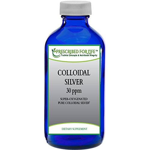 Colloidal Silver Liquid - 30 ppm Super-Oxygenated Pure Non-GMO Solution, 8 oz