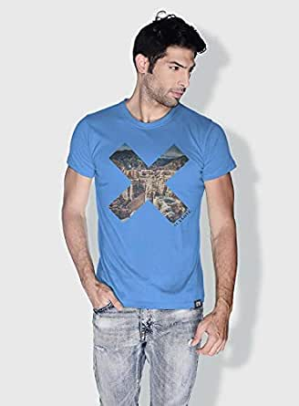 Creo Almaty Mountain X City Love T-Shirts For Men - S, Blue
