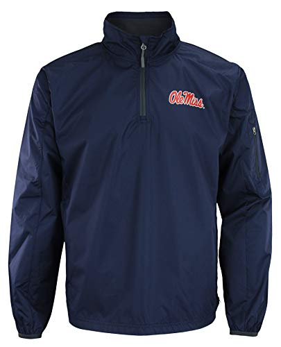 Mississippi Ole Miss Rebels NCAA Apex Men's 1/4 Zip Pullover Performance Jacket